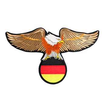 Águia com bandeira Alemanha