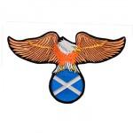 Águia com bandeira Escócia