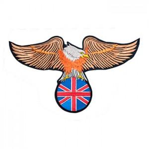 Águia com bandeira Inglaterra