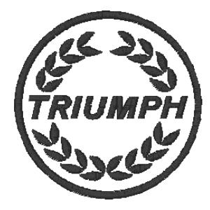 emblema outros carro triumph