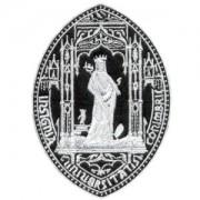 emblema rainha santa preto