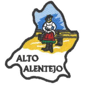Emblema Regiao Mapa Alto Alentejo Lousatextil Bordados E