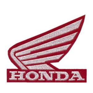 Emblemas Motard Marca Honda Logo Médio Vermelho