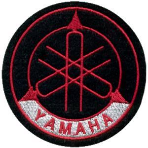 Emblemas Motard Marca Yamaha Logo Médio Vermelho