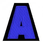 Letra A azul