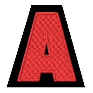 Letra A vermelho