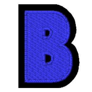 Letra B azul