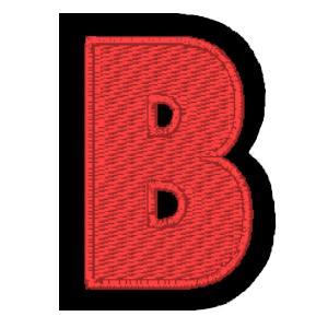 Letra B vermelho