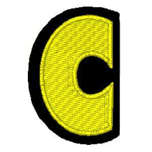 Letra C amarelo