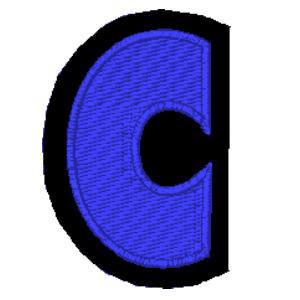 Letra C azul