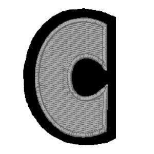 Letra C cinza