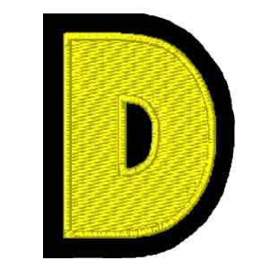 Letra D amarelo