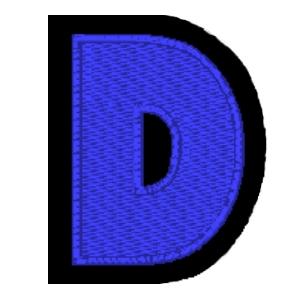 Letra D azul