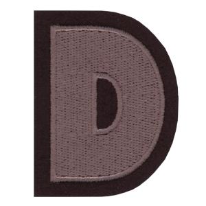 Letra D cinza