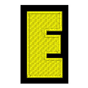 Letra E amarelo