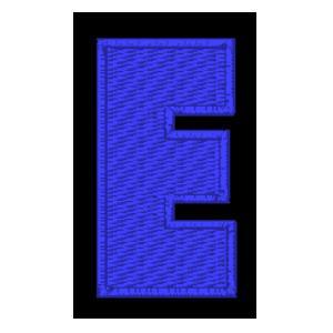 Letra E azul