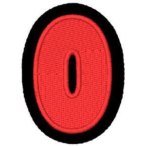 Nº 0 vermelho