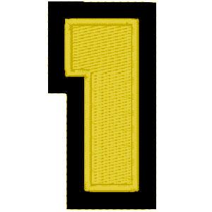 Nº1 amarelo