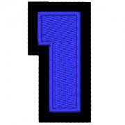 Nº1 azul