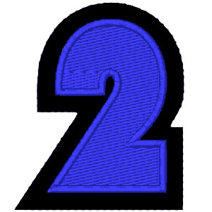 Nº2 azul