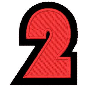 Nº2 vermelho