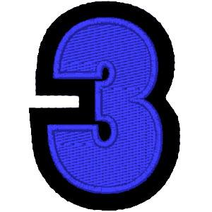 Nº3 azul