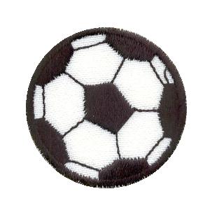 emblema criança bola de futebol.def