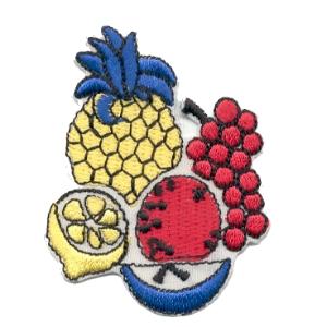 emblema fruta ananás limão uvas.def