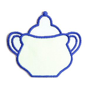 Emblemas Living Louça Açucareiro Branco e Azul