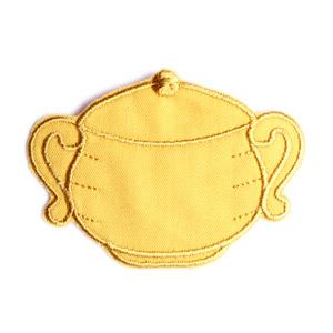 Emblemas Living Louça Açucareiro Pequeno Amarelo
