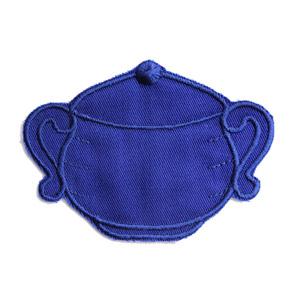 Emblemas Living Louça Açucareiro Pequeno Azul