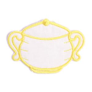 Emblemas Living Louça Açucareiro Pequeno Branco e Amarelo