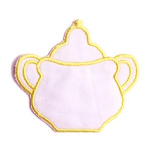 Emblemas Living Louça Açucareiro peq. Branco e Amarelo