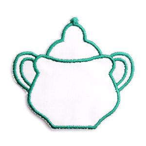 Emblemas Living Louça Açucareiro peq. Branco e Verde
