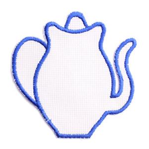 Emblemas Living Louça Bulle Branco e Azul