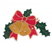 Emblemas Living Natal Laço + Sinos Natal