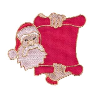 Emblemas Living Natal Pai Natal mens verm
