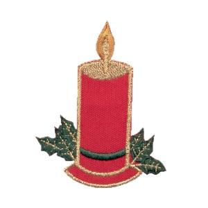 Emblemas Living Natal Vela pano verm.
