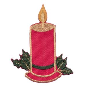 Emblemas Living Natal Vela quadr. Verm.