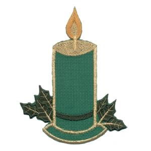 Emblemas Living Natal Vela quadr.verde