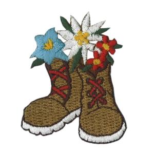 Emblemas Natureza Flor Botas com flores austriacas
