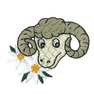 Emblemas Natureza Flor Carneiro com flores austriacas