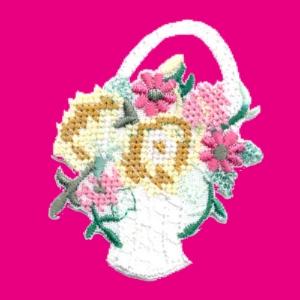 Emblemas Natureza Flor Cesto flores pt. cruz