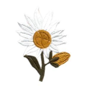 Emblemas Natureza Flor branca e amarela