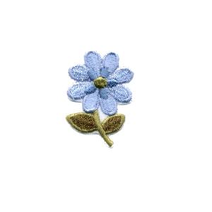 Emblemas Natureza Flor dupla Azul peq.