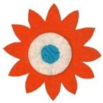Emblemas Natureza Flor dupla Laranja