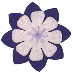 Emblemas Natureza Flor dupla Lilás