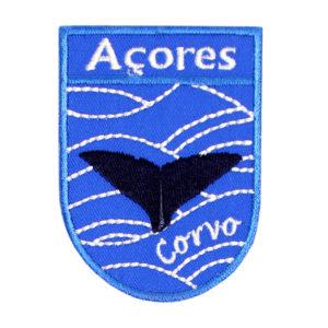 Emblemas Locais Baleia Corvo Açores Portugal