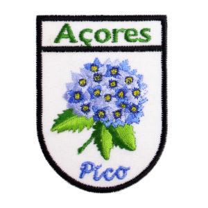 Emblemas Locais Hortênsia Azul Pico Açores Portugal