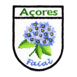 Emblemas Locais Hortênsia Azul Faial Açores Portugal